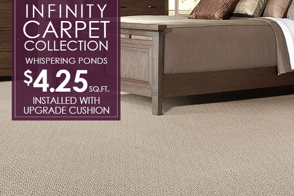Infinity Collection Whispering Ponds $4.25 sq.ft. Installed with upgraded cushion