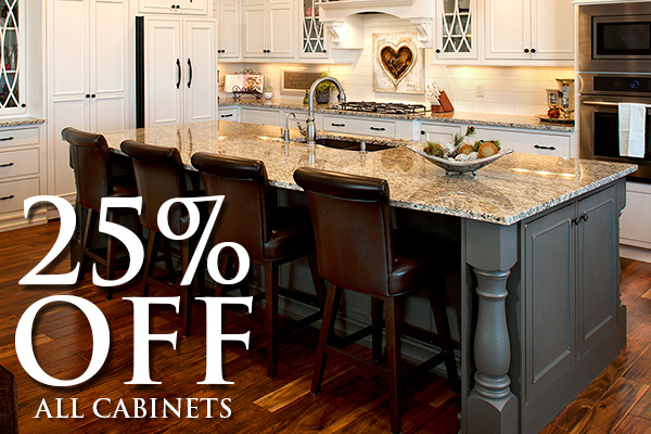 25% Off all cabinets | We provide a wide range of top quality cabinetry to help beautify transform any room in your home.